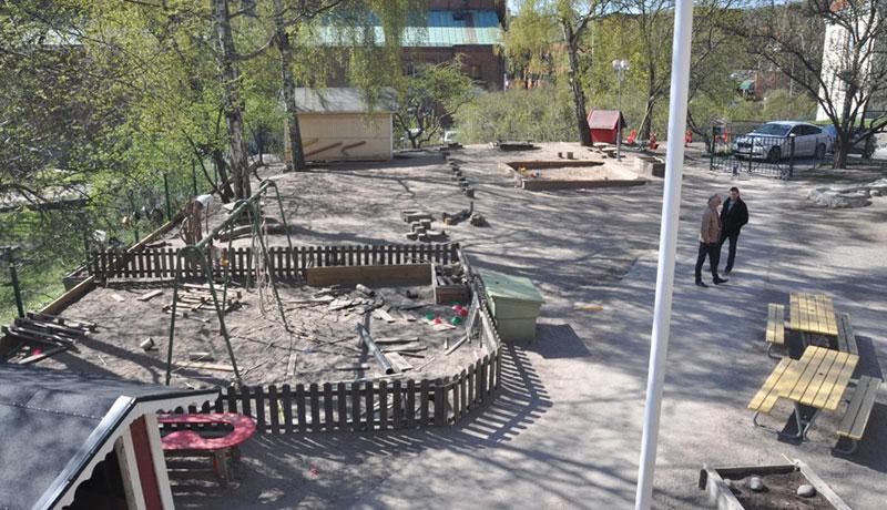 Bark som fallskydd miljövänligt lekplatskonsulten
